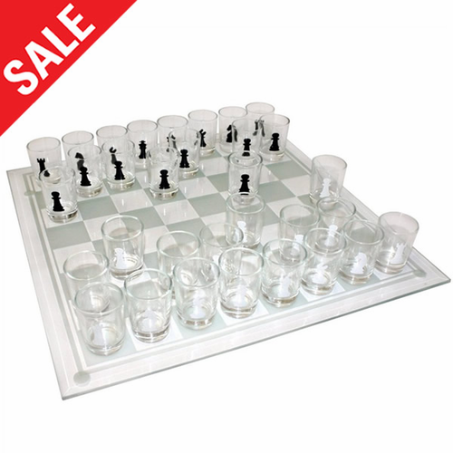 Shot Glass Chess Set - Click to enlarge