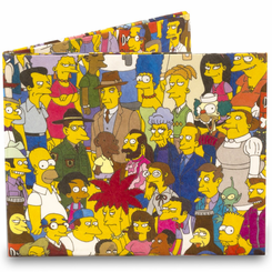 Simpsons Cast Mighty Wallet