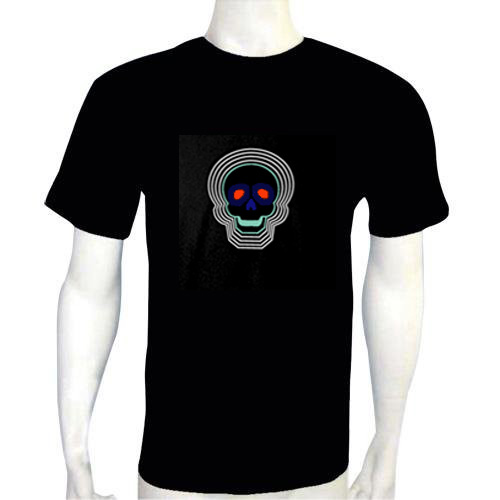 Skull Light Up LED Shirt - Click to enlarge