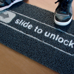 Slide to Unlock Welcome Mat