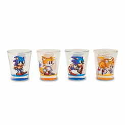 Sonic the Hedgehog 4pc Shot Glass Set