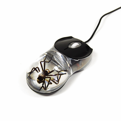 Spider Clear Computer Mouse