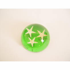 Star Fish Paperweight Clear Green Desk Decoration