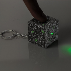 Star Trek Borg Cube Light-Up Keychain