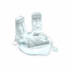 stone cold easter island moai ice tray mold