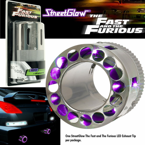 StreetGlow LED Exhaust Tip Purple - Click to enlarge