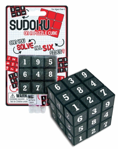 Sudoku Cube Puzzle - Click to enlarge