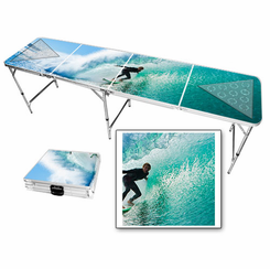 Surfing Waves Beer Pong Table
