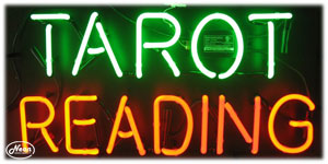 Tarot Reading Neon Sign - Click to enlarge