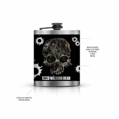 Walking Dead Flask-Skull