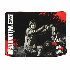 Walking Dead Fleece Blanket-Daryl All We Do Is Run