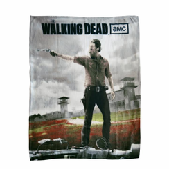 Walking Dead Fleece Blanket-Rick at Prison
