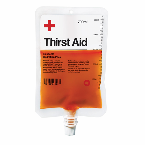 Thirst Aid Plasma Bag Drink Pouch - Drink like a vampire!