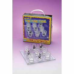 Tic-Tac-Toe Shot Glass Drinking Game