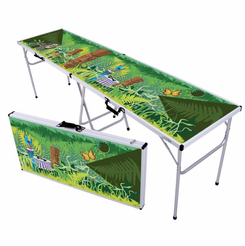 Tiki Rain Forest Beer Pong Table
