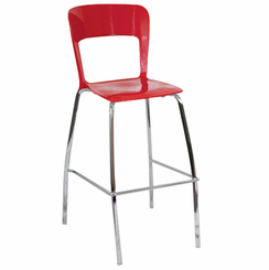 Tone Barstool Red (Sold In Pairs) BS-TONE-R