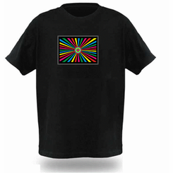 Trippy 70s Light Up LED Shirt