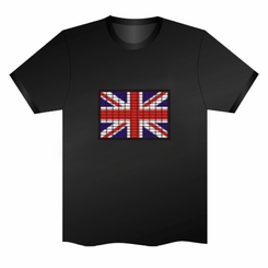UK Flag Light Up LED Shirt