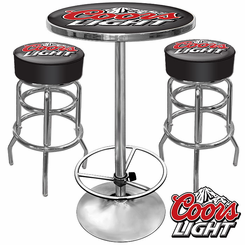 Ultimate Coors Light Gameroom Combo 2 Bar Stools and Table