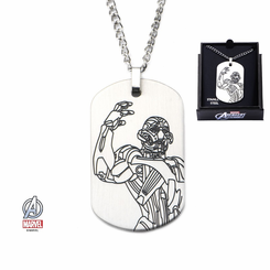 Ultron Laser Etched Dogtag Pendant Necklace with 24 inch Chain