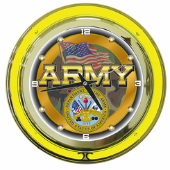 United States Army Neon Clock