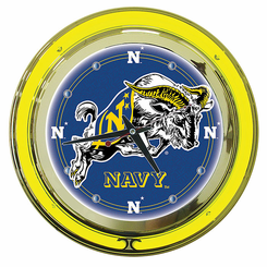 United States Naval Academy Neon Clock