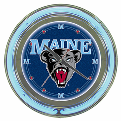 University of Maine Neon Clock Clock