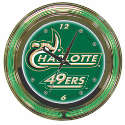 University of North Carolina Charlotte Neon Clock