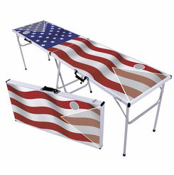 US Flag Classic Beer Pong Table