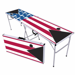 US Flag & Cups Beer Pong Table