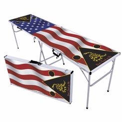 US Flag with Don't Tread on Me Beer Pong Table