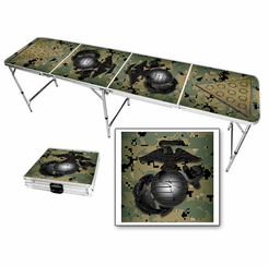 US Marines USMC Gobe & Camo Beer Pong Table