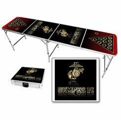 US Marines USMC Semper Fi Beer Pong Table