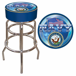 US Navy Padded Bar Stool