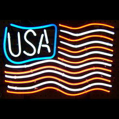 Usa Flag Neon Sign