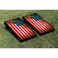 USA Vintage Flag Cornhole Game Set
