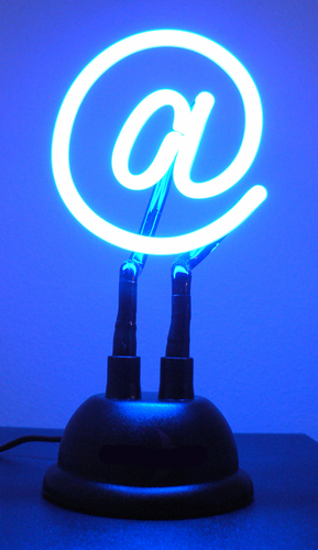 USB Powered Neon @ Sign - Click to enlarge
