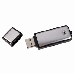 USB Voice Recorder w/Flash Drive (8 GB / 160 Hours)