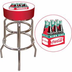Vintage Coca Cola Coke bar Stool Bottle Six Pack Design