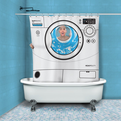 Washing Machine Bath Curtain