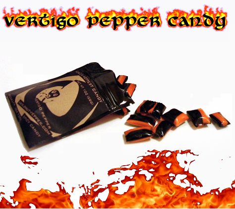 World's Hottest Candy: Vertigo Pepper Candy - Click to enlarge