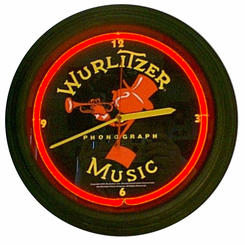 Wurlitzer Johnny One Note Neon Clock