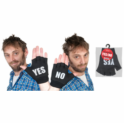 Yes/No Fingerless Gloves