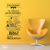 Awesome Family Rules - Wall Decals