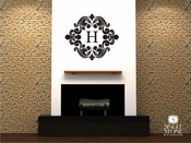 Baroque Monogram - Wall Decals