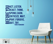 Before You Act - Hemingway - Wall Decals