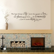 Best Things In Life - Wall Decals