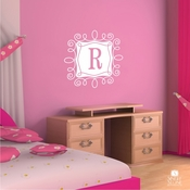 Curly Frame Monogram - Wall Decals
