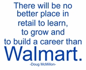 D McMillon Wall Quote for Walmart Stores
