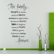 Family Rules - Wall Decals